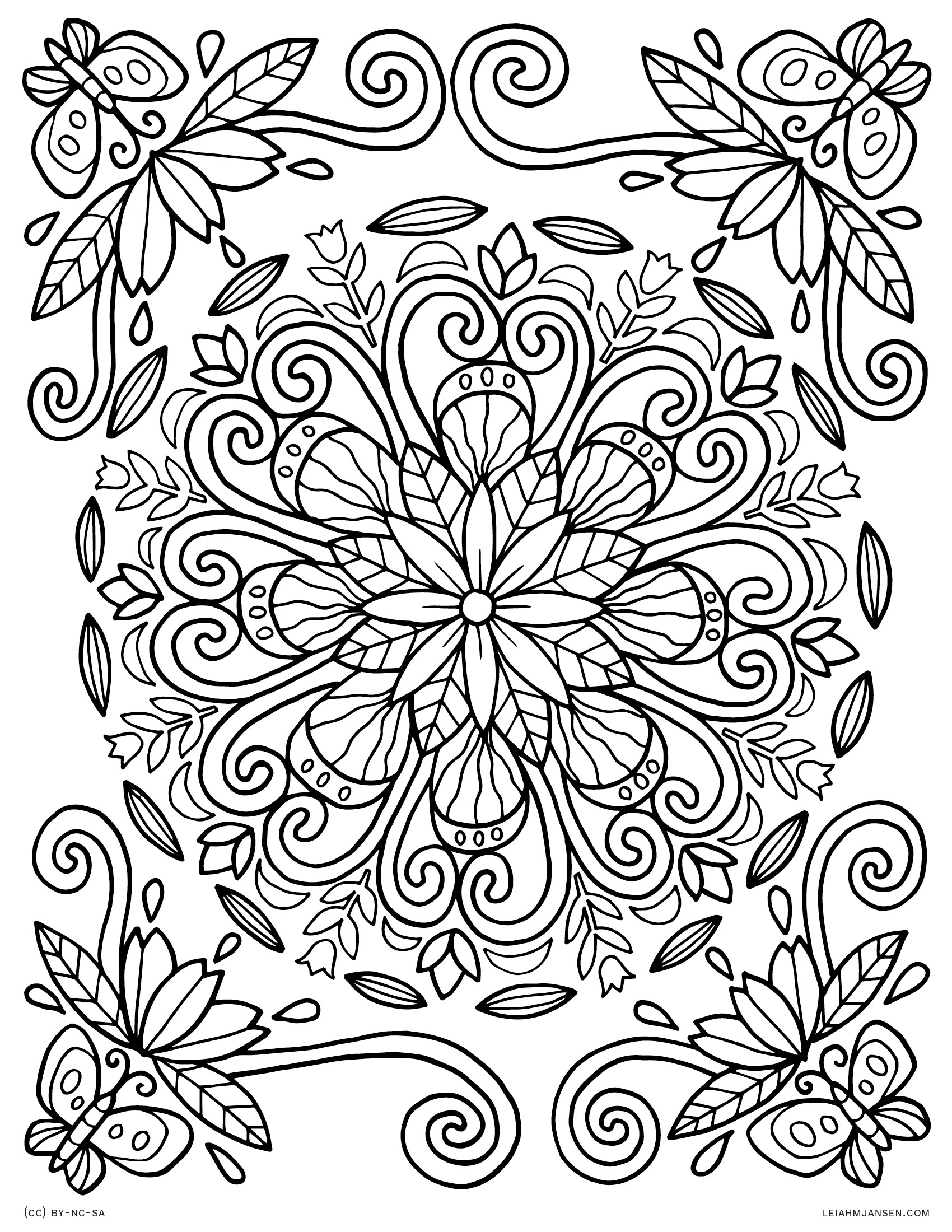 Spring Mandala Coloring Pages