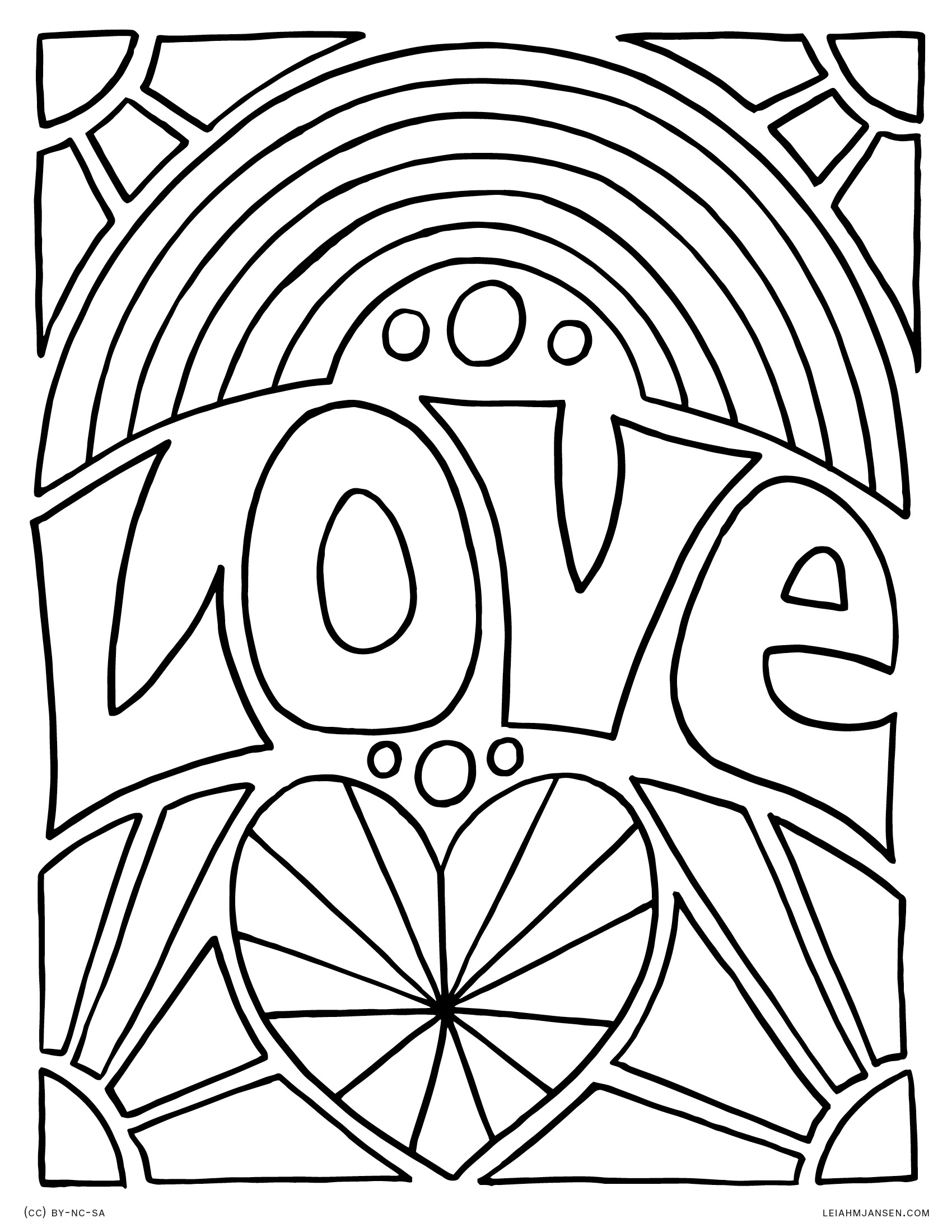 This is an image of Vibrant adult rainbow coloring pages