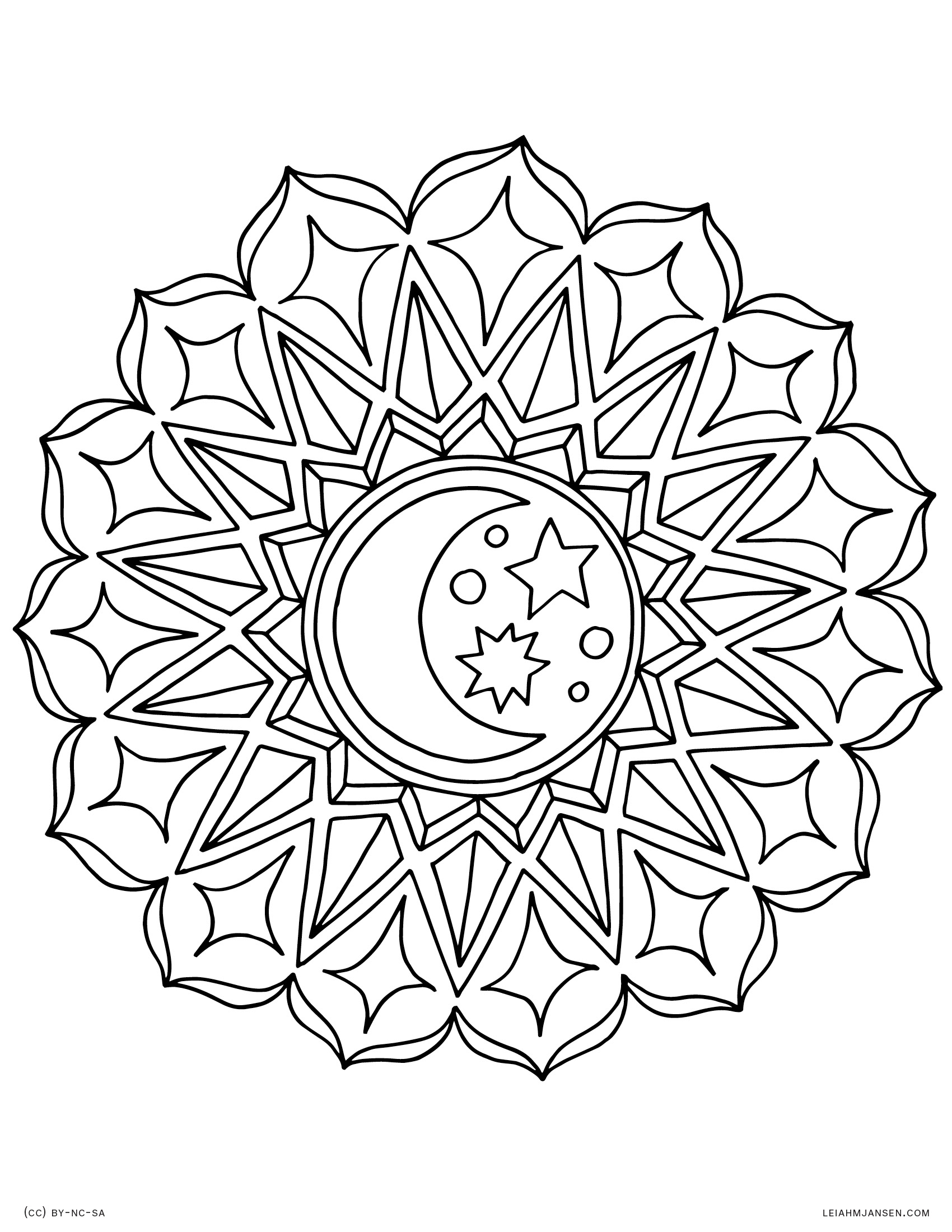 moon mandala coloring pages - coloring pages