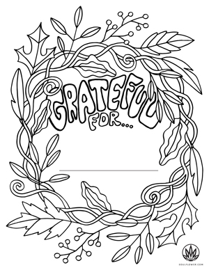Soul Flower Thanksgiving Mandala Coloring Page