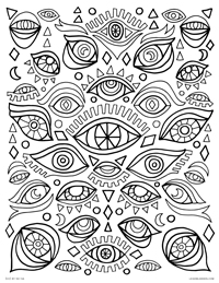 Psychedelic - Coloring Pages for Adults | 259x200