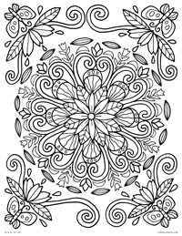 Spring Mandala - Nature Floral Mandala Drawing - Free Printable Coloring Page for Adults and Kids, by leiahmjansen.com @oleiah
