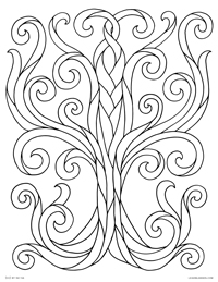 Tree of Life - Swirly Ribbon Tree - Free Printable Coloring Page for Adults and Kids, by leiahmjansen.com @oleiah