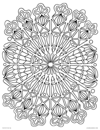 Mandala Tapestry - Tapestry-Inspired Abstract Geometric Mandala - Free Printable Coloring Page for Adults and Kids, by leiahmjansen.com @oleiah