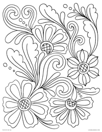 Rosemaling Design - Norwegian Rosemaling Floral - Free Printable Coloring Page for Adults and Kids, by leiahmjansen.com @oleiah