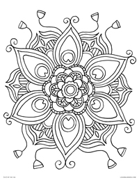 Peacock Mandala - Peacock Feathers Mandala Circle - Free Printable Coloring Page for Adults and Kids, by leiahmjansen.com @oleiah