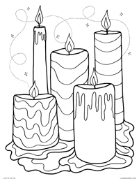 Melting Wax Candles - Spooky Candle Altar - Free Printable Coloring Page for Adults and Kids, by leiahmjansen.com @oleiah