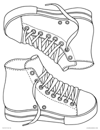 Blank High Top Sneakers - Design Your Own Sneakers Converse All Stars Chuck Taylors - Free Printable Coloring Page for Adults and Kids, by leiahmjansen.com @oleiah