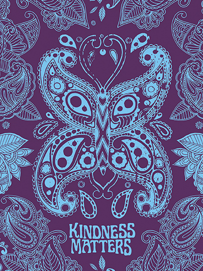 doodles notebook cover - kindness matters
