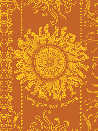 doodles notebook cover - carry your own sunshine